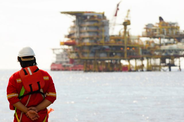 offshore rig worker