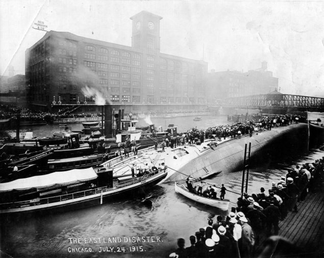 Photo shows the aftermatch of the SS Eastland disaster, taken approximately 75 minutes after the ship capsized. Photo: Eastland Disaster Historical Society