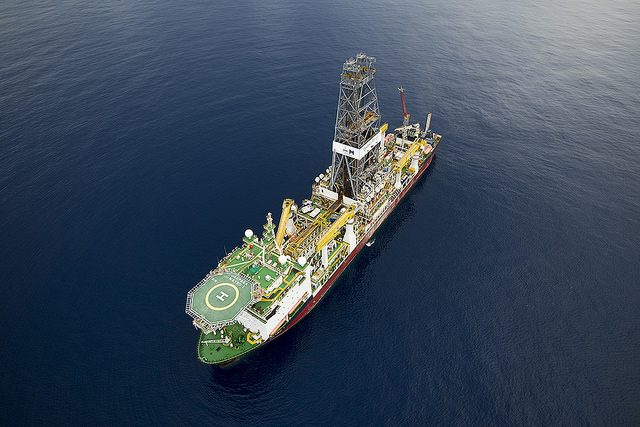 Deepsea Metro I, a sixth generation drillship contracted by BG Group to drill offshore Tanzania. Photo: BG Group