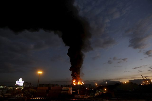 ultracargo fuel tank fire santos port