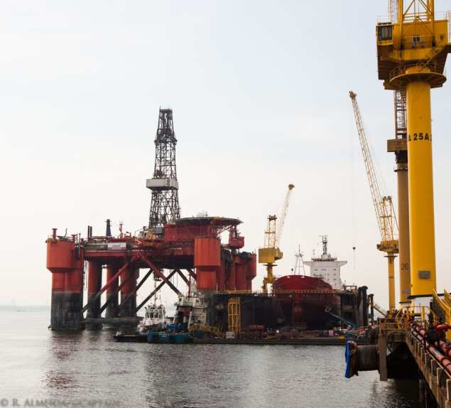 A 37-year old drilling rig is currently getting upgraded at Sembawang Shipyard.