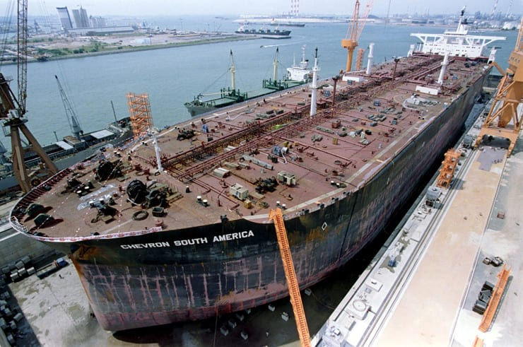 chevron south america ulcc jurong shipyard drydock