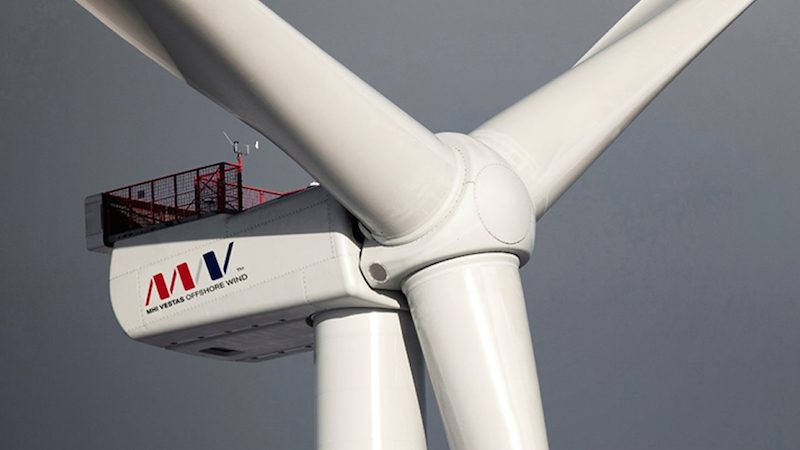 Developed by MHI Vestas Offshore Wind, the V164-8.0 MW prototype turbine has already set the world record for power production by a wind turbine in a 24 hour period. Photo: MHI Vestas Offshore Wind