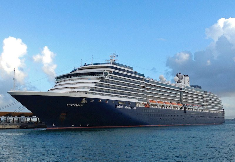 MS Westerdam. Photo: Holland America Line
