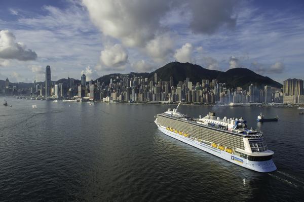 Quantum of the Seas arrives in Shanghai, China in June 2015. Photo: Royal Caribbean International