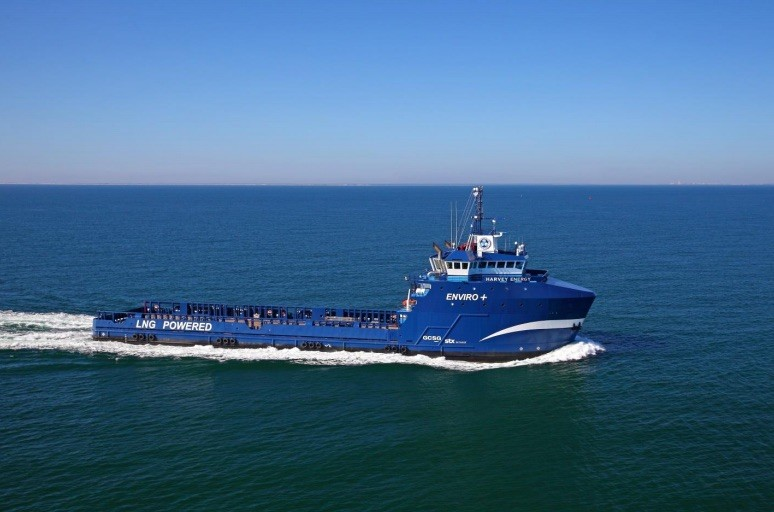 The LNG-powered MV Harvey Energy. Photo: Harvey Gulf International Marine
