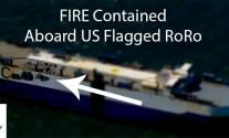 US Flagged RoRo Fire Off  Isle Of Wight