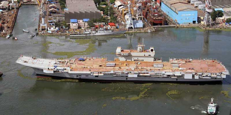 vikrant INS carrier launch