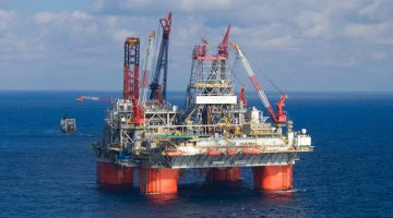 BP's Thunder Horse platform on location in the Gulf of Mexico. Photo: BP plc