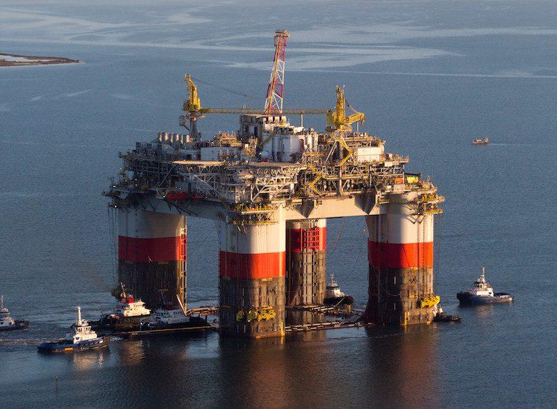 Chevron's Jack/St. Malo platform in the U.S. Gulf of Mexico. Photo: Crowley
