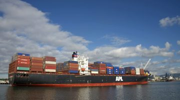 APL is a wholly-owned subsidiary of Singapore-based Neptune Orient Lines. Sheila Fitzgerald / Shutterstock.com