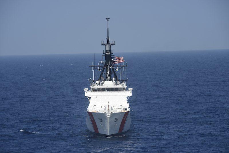 Coast Guard Cutter James overflight