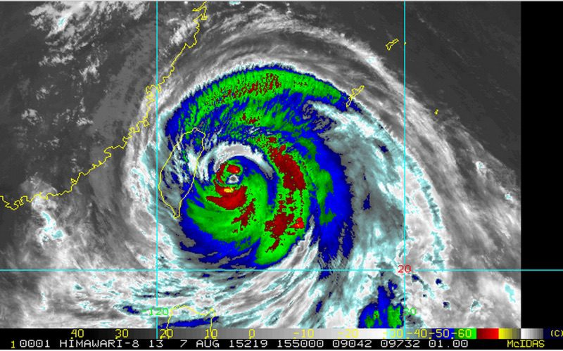 IR Satellite image by NOAA show's location of Typhoon