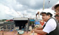 Union Minister Mr. Shri Nitin Gadkari at the Cochin shipyard. File photo: Bharatiya Janata Party