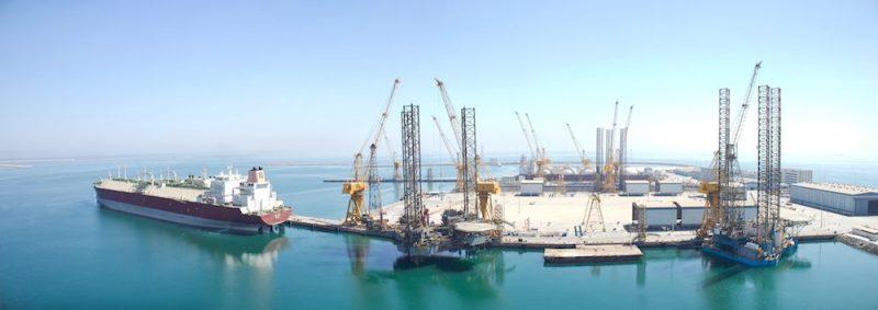 Nakilat's state-of-the-art shipyard at Ras Laffan. Photo credit: Nakilat