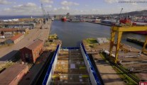 Video: Tight Fit for PSV Leaving Dry Dock