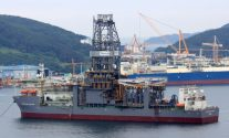 Transocean drillship Deepwater Thalassa under construction at DSME. Photo: Lappino
