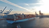 Record Load: Watch Maersk Triple-E Leave Port with 17,152 TEU