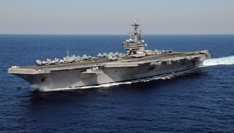 The aircraft carrier USS George H.W. Bush (CVN 77) underway. Photo: U.S. Navy