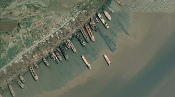 Beached ships in Alang, India. Photo: