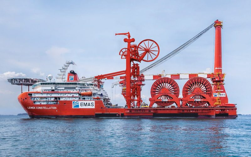 The Ice-class, heavy lift subsea multi-lay vessel, Lewek Constellation. Photo: EMAS