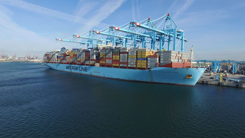 Madison Maersk at Maasvlakte II in Rotterdam. Photo: APM Terminals