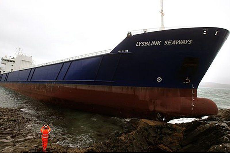 Lysblink Seaways aground. Photo: MAIB