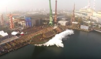 WATCH: Huge Sideways Launch at Poland's Remontowa Shipyard