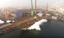 WATCH: Huge Sideways Launch at Poland's Remontowa Shipyard