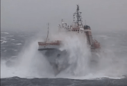 Incredible Footage: Heavy Weather Tow Of Russian Aircraft Carrier in Bay of Biscay