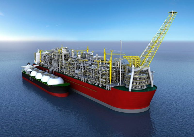 An illustration of the completed Prelude FLNG. Photo: Royal Dutch Shell