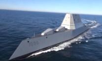 WATCH: First Footage of Future USS Zumwalt (DDG 1000) at Sea