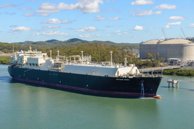 The LNG carrier Photo: Australia Pacific LNG