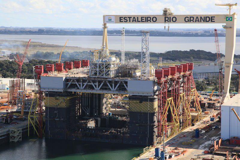 Estaleiro Rio Grande Shipyard. Photo: Petrobras News Agency