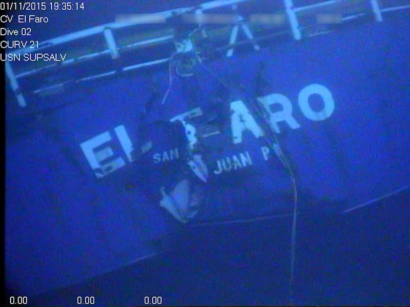Stern of the El Faro. Photo: NTSB