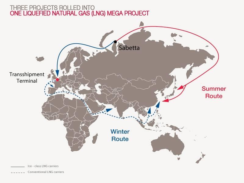 Map courtesy Teekay