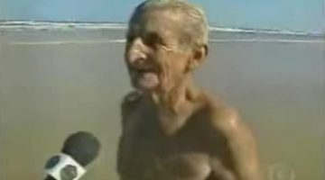 Classic Video: Legendary Pilot Used to Dive Off Ships, Swim Back to Shore