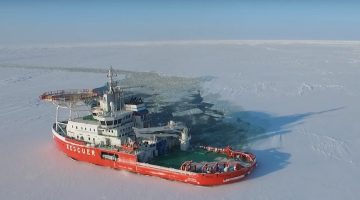 Video: World's First 'Oblique' Icebreaker Breaks Ice Sideways