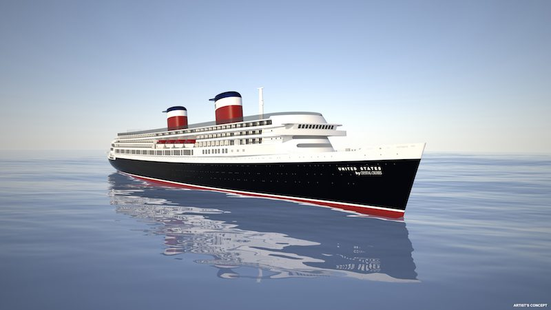 Rendering of the restored SS United States. Image credit: Crystal Cruises