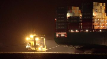 VIDEO: Refloat of CSCL Indian Ocean in Germany