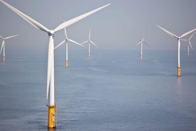Offshore Wind Turbines At Sea