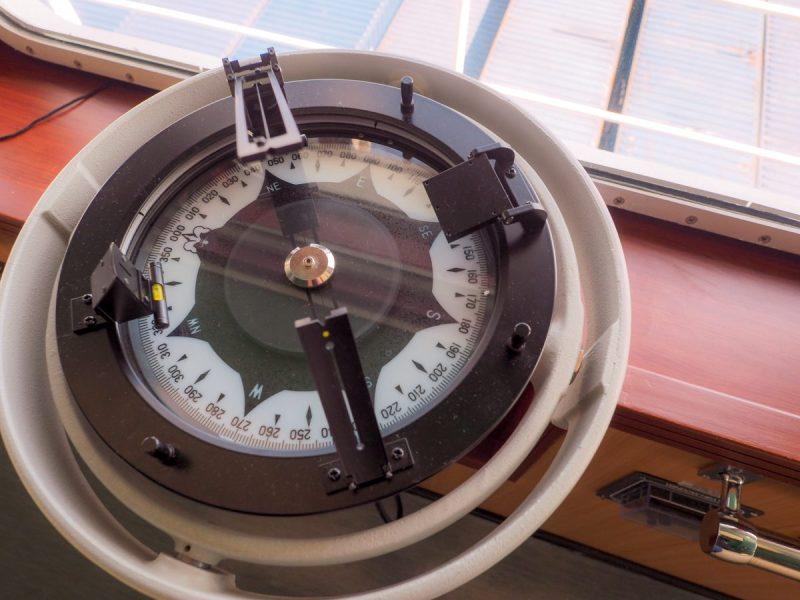 Photo of the ship's Gyro Repeater By John Konrad  ©2016