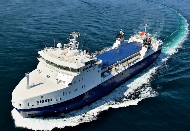 The MV Sigrid is designed to
