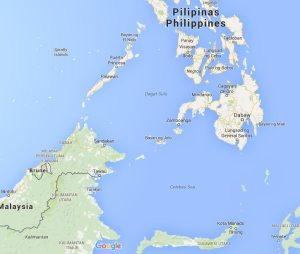 Peta wilayah laut antara Indonesia, Filipina dan Malaysia