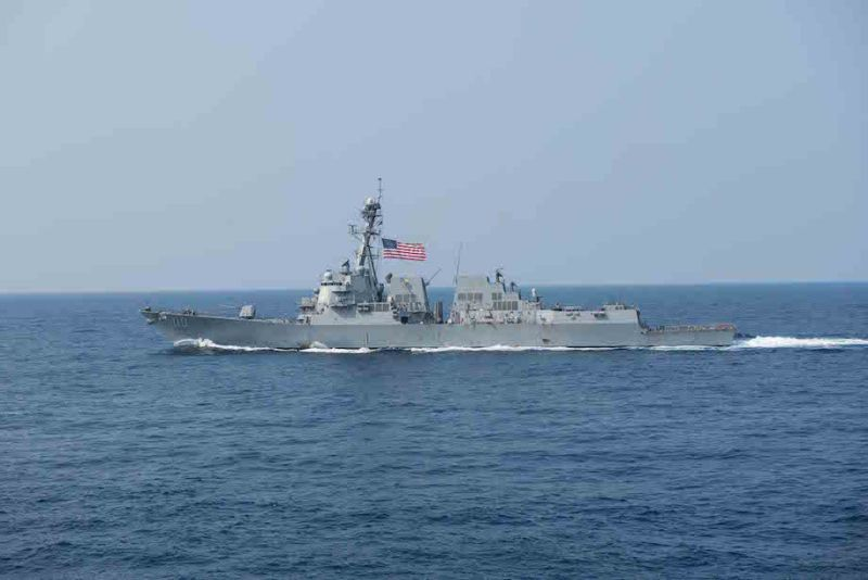 The guided missile destroyer USS William P. Lawrence (DDG 110) transits the Philippine Sea, March 30, 2016. U.S. Navy Photo