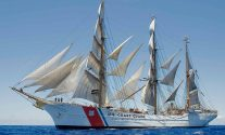 Man Overboard from U.S. Coast Guard Sail Training Ship 'Eagle' in Ireland