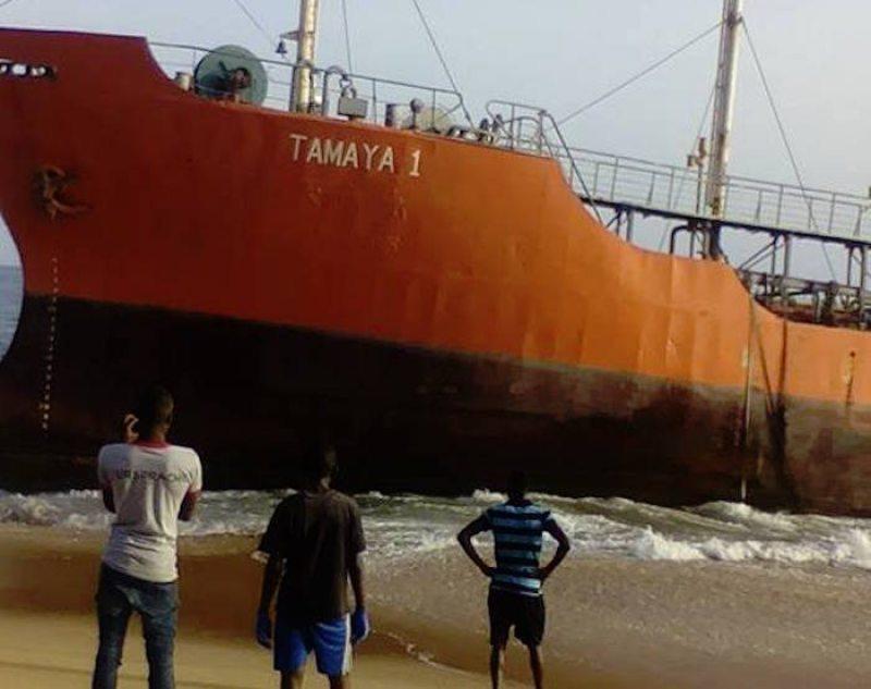 Tamaya 1 washed up along the coast of Liberia.