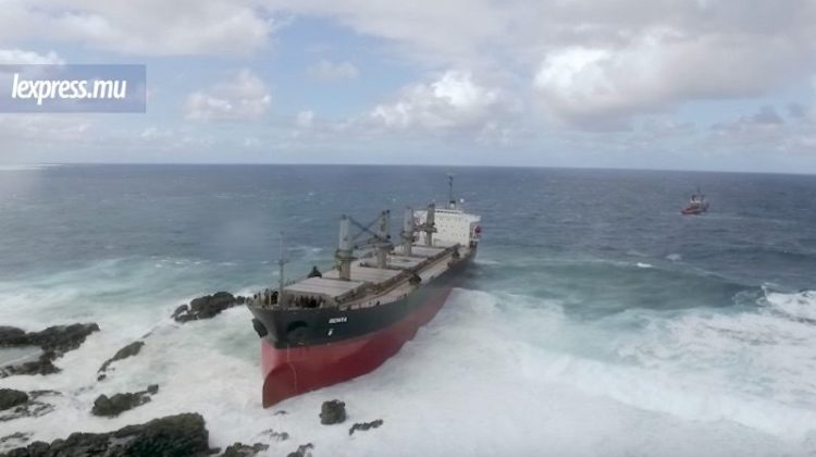 Bulk Carrier Hard Aground in Mauritius After Fight On Board