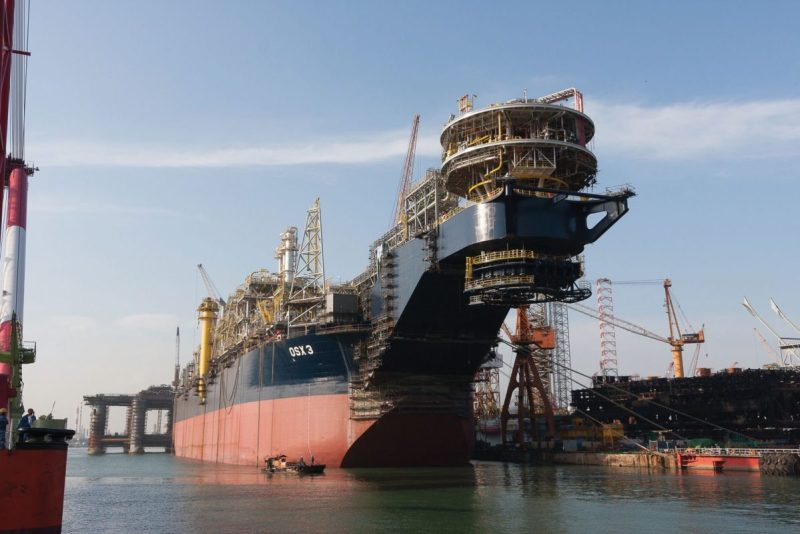 FPSO OSX-3 pictured during its May 2013 naming ceremony. Photo credit: OSX