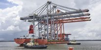 Ship Photos of the Day – Arrival of New Cranes for London Gateway's Third Berth